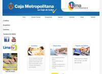 Sitio web de Caja Metropolitana