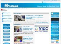 Sitio web de ESSALUD Centro Asistencial CAP III Metropolitano