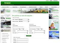 Sitio web de Europcar
