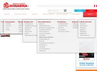 Sitio web de HIRAOKA Sucursal Lima