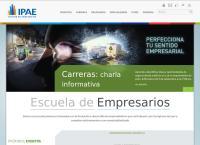 Sitio web de Ipae- Escuela de Empresarios Sucursal  Surco